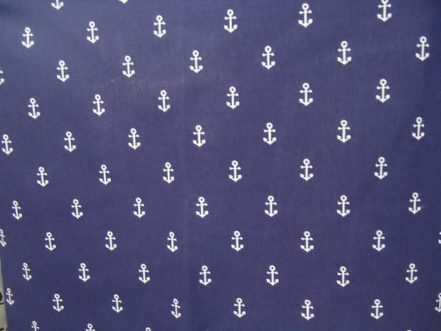 ναυτικό ύφασμα μπλέ άγκυρες