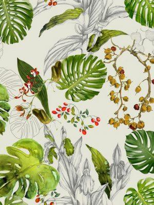 ύφασμα τροπικά φύλλα