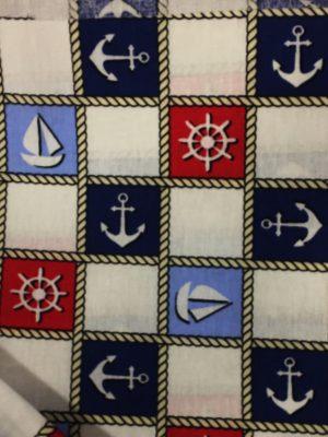σεντόνι με το μέτρο ναυτικό σχέδιο