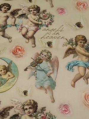 Ύφασμα για κουρτίνα/τραπεζομάντηλο - Angels in heaven