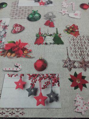 χριστουγεννιάτικο ύφασμα διακόσμηση τραπεζομάνδηλο