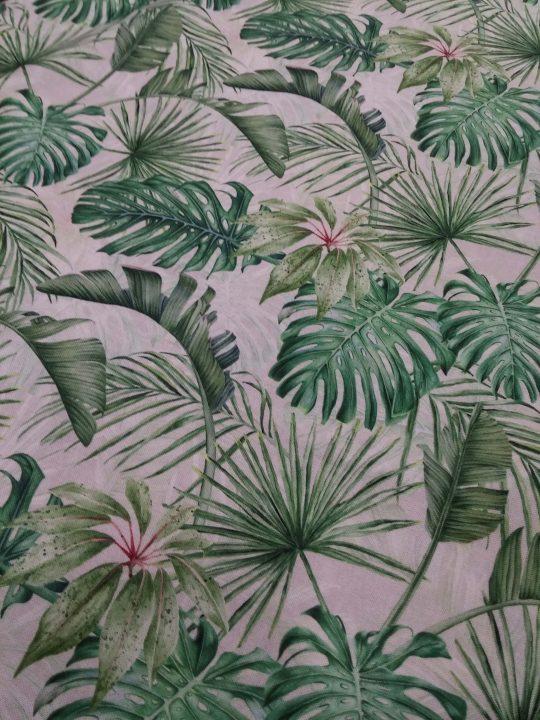ύφασμα τροπικό σχέδιο φύλλα φοίνικας