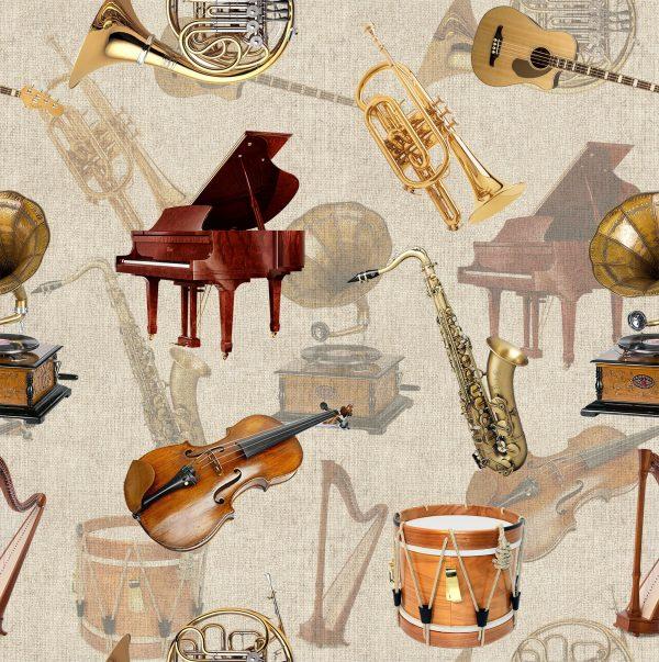 ύφασμα μουσικά όργανα