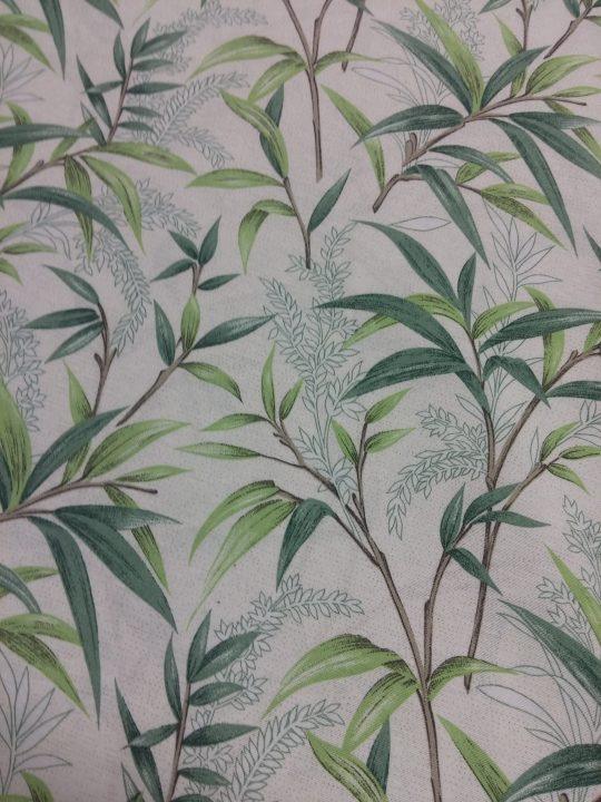 Ύφασμα μέ φύλλα ελιάς