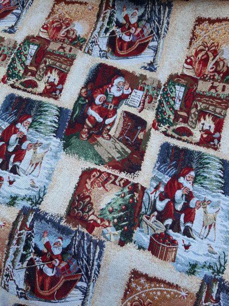 ύφασμα χριστουγεννιάτικο αη βασιλης
