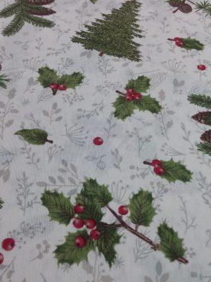 χριστουγεννιάτικο ύφασμα για κουρτίνα τραπεζομάνδηλο