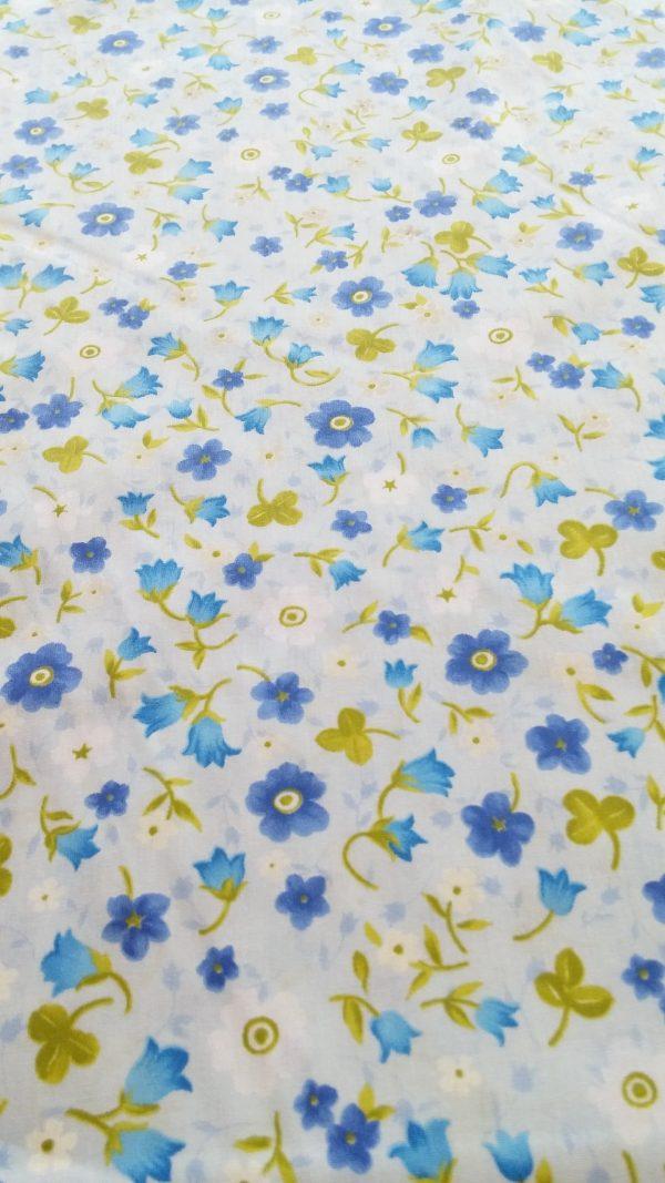 σεντόνι βαμβακερό λουλούδια φλοραλ τύπου Λώρα Ασλευ