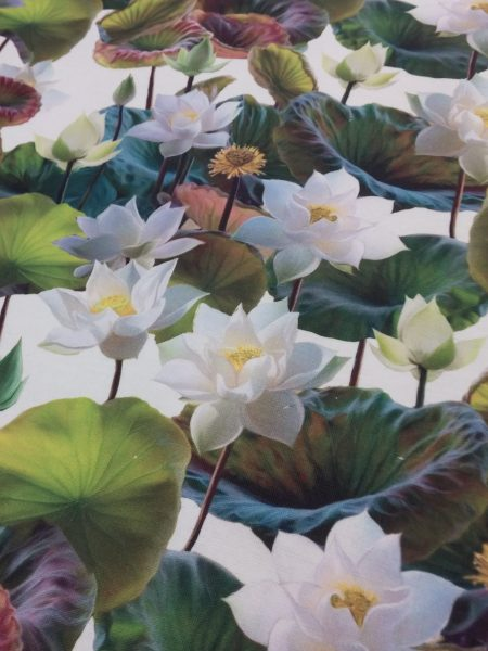 ύφασμα-καραβόπανο-λουλούδια-φλοράλ-νούφαρα-συλλογή14