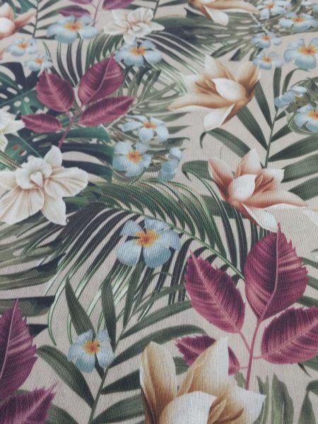 Ύφασμα τροπικά λουλούδια χρώματα