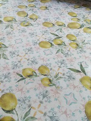 ύφασμα τραπεζομάνδηλο λεμόνια