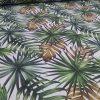 Ύφασμα τροπικά φύλλα λαδί χρυσό
