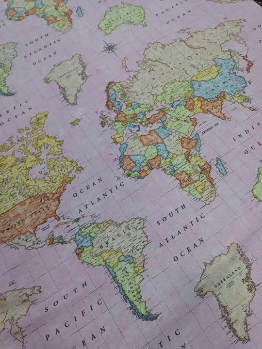 ύφασμα χάρτης υδρόγειος