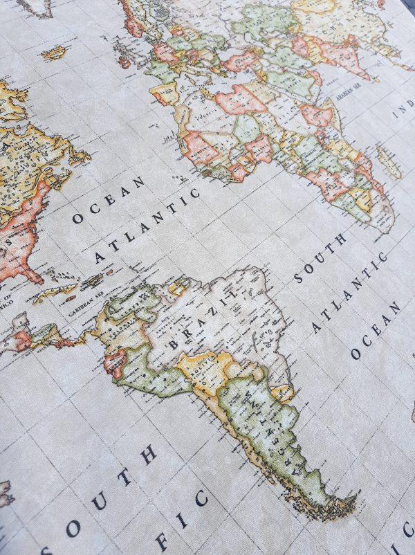 ύφασμα-χάρτης-υδρόγειος