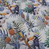 ύφασμα τροπικό ανανάς τουκάν παπαγάλλοι
