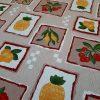 ύφασμα λεμόνια ανανάς