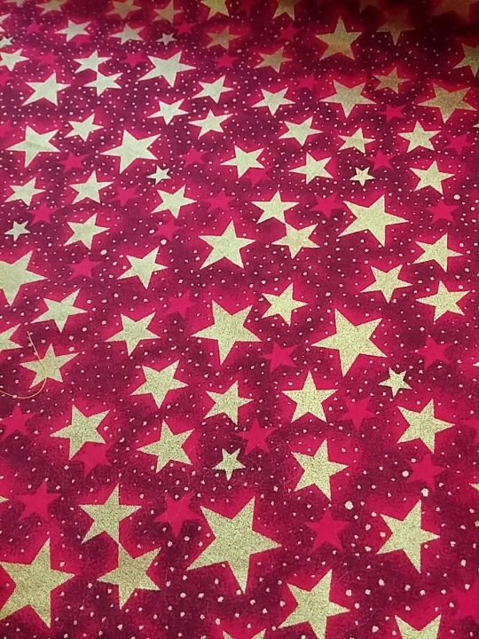 xmass stars cotton