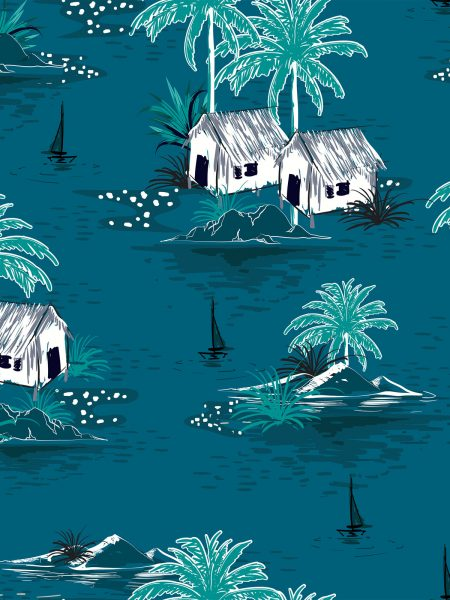τροπικό νυκτερινό θαλασσινό τοπίο