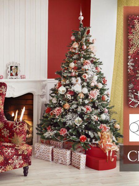 χριστουγεννιάτικη στόφα διακόσμησης