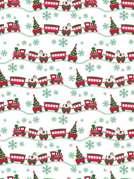 ύφασμα χριστουγεννιάτικο τραινο