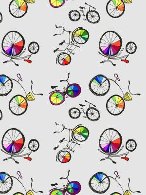 ύφασμα με ποδήλατα