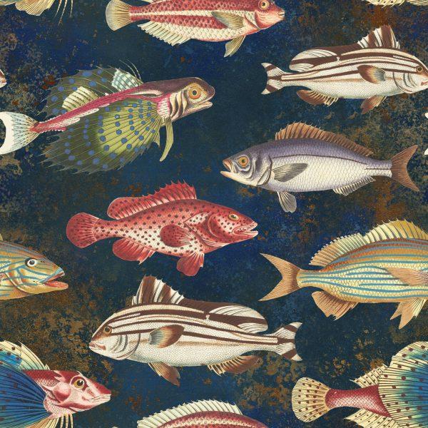 υφάσματα με ψάρια βυθός