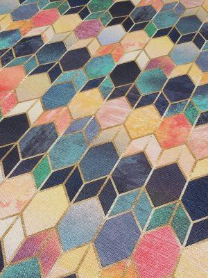 ύφασμα γεωμετρικά σχέδια χρώματα