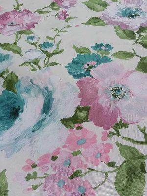 λουλούδια ρόζ τυρκουάζ