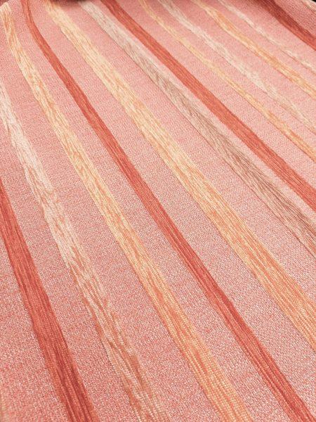 Στόφα επίπλωσης σωμών πορτοκαλί ριγέ σενίλ 2.80 φάρδος για κουρτίνα ταπετσαρία επίπλωσης , ριχτάρι , μαξιλάρια και κάθε διακόσμηση