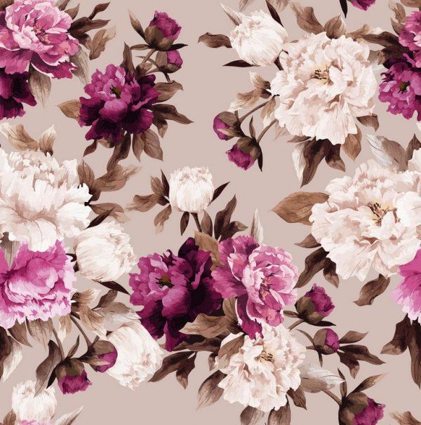 λουλούδια άσπρα φούξια καφέ