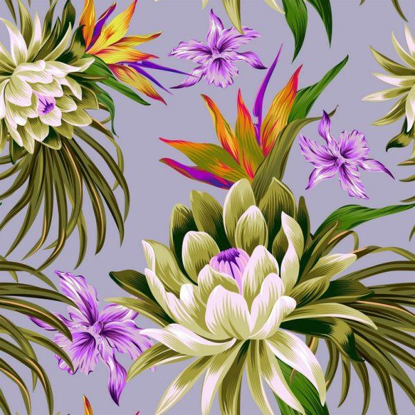 ύφασμα λουλούδια του παράδεισου