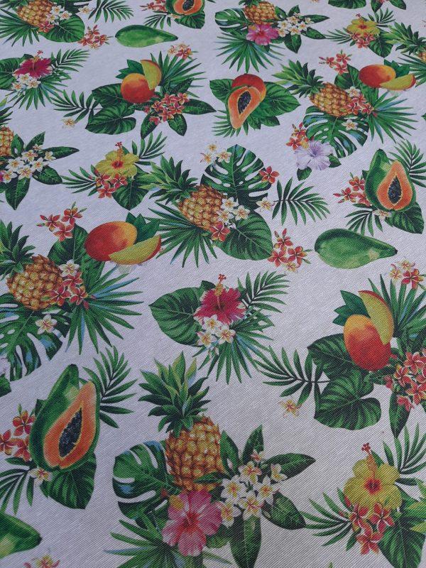 Αδιάβροχο ύφασμα με φρούτα του πάθους ανανά και μάνγκο