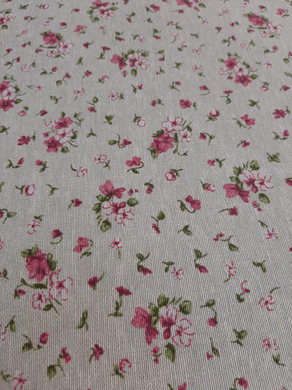 αδιάβροχο πολύ μικρά λουλουδάκια ρόζ για τραπεζομάντηλο