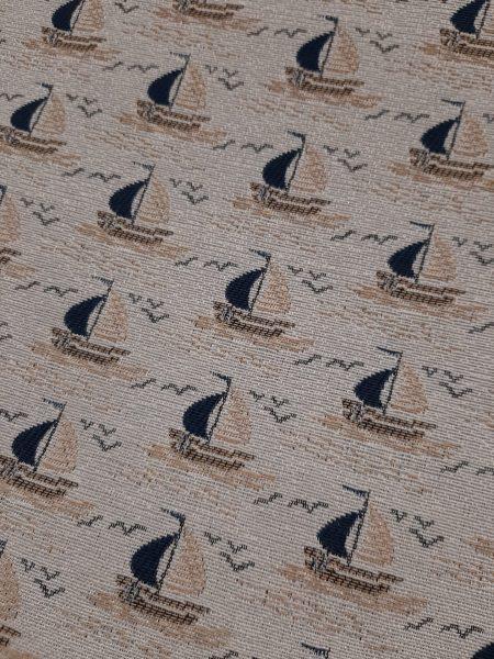 ΎΦΑΣΜΑ ΕΠΊΠΛΩΣΗΣ ναυτικό σχέδιο καραβάκια μπλέ και μπέζ πανιά σε γκρί του πάγου φόντο
