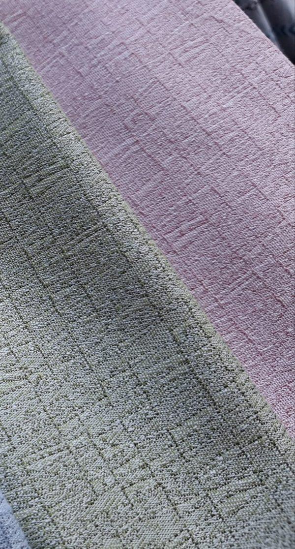 ύφασμα επίπλωσης μονόχρωμο Μέντα η Ρόζ χρώμα στην ύφανση σε 2.80 φάρδος