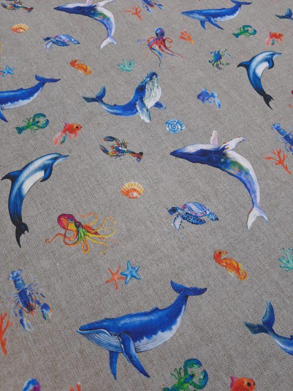 ΎΦΑΣΜΑ τροπικό με δελφίνια, φάλαινες οκταπόδια αστακούς αστερίες και άλλα θαλασσινά