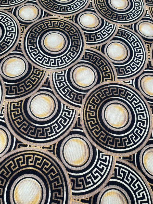 ΎΦΑΣΜΑ τύπου Βερσάτσε δίσκοι μαύροι με χρυσό μαίανδρο σε 2.80 φάρδος
