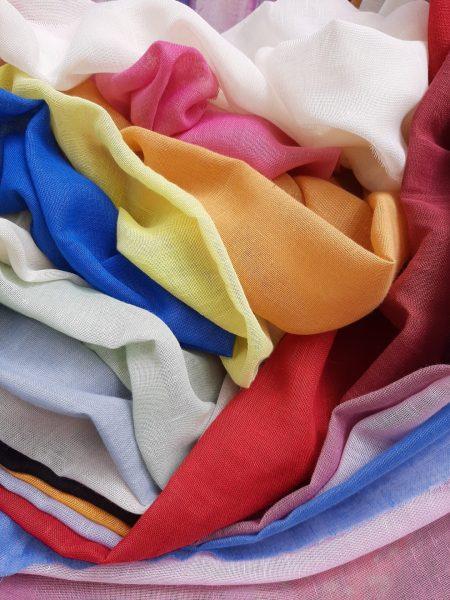 κουρτίνες γάζες με βαρίδι σε 3 μέτρα φάρδος όλα τα χρώματα