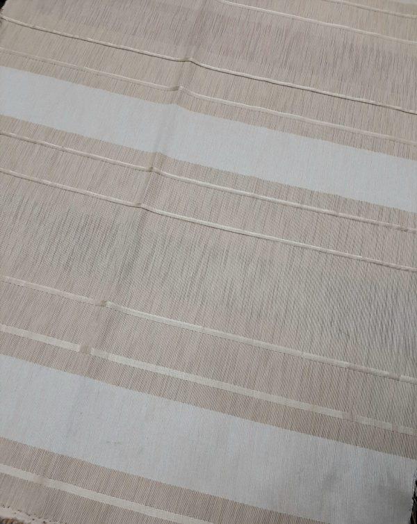 ύφασμα σατέν-ταφτάς ριγέ σχέδιο εκρού-μπέζ ανοικτό ζακάρ ανάγλυφο σε 3 μετρα φάρδος
