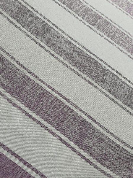 ύφασμα χονδρό ριγέ υπόλευκο φόντο με ροδογκρί ρίγα ζακάρ σε 2.80 φάρδος
