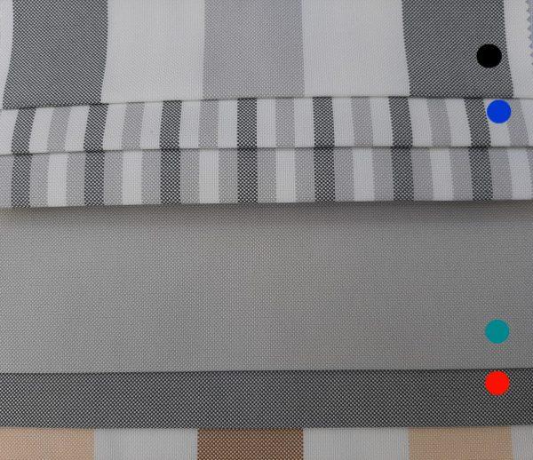 υφάσματα αδιάβροχα εξωτερικών χώρων συνδυασμένα σε γκρί χρώματα σε 2.80 φάρδος