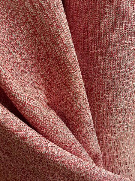 ύφασμα για ταπετσαρία επίπλωσης και κουρτίνα βαριά σε χρώμα κοραλί κόκκινο ντεγκραντέ σε 2.80 φάρδος