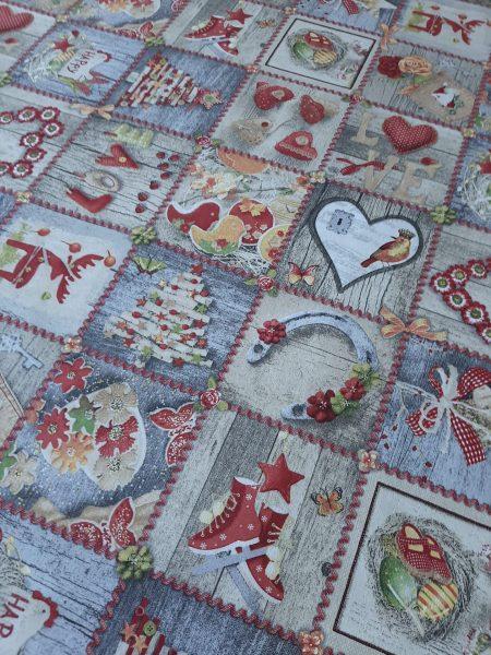 χριστουγεννιάτικο patchwork γιορτινων εικόνων σε 2.80 φάρδος