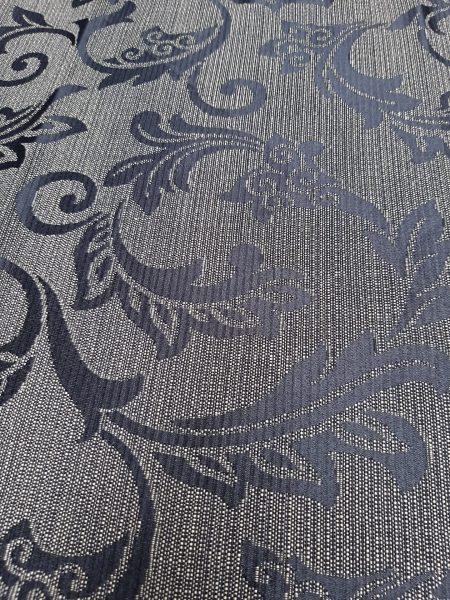 ύφασμα μπαρόκ, μπροκάρ ΜΑΥΡΟ σε εκρού-μαύρο ριγέ φόντο σε 2.80 μέτρα ύψος για κουρτίνα ,ράνερ και κάθε διακόσμηση